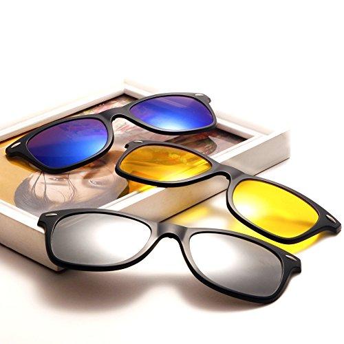 sol Mujeres TIMWILL de Clip 5Pcs gafas on Night TR90 Driving Lentes Marco Hombres UV400 sol de Polarizado plástico Unisex Gafas magnético de 2208a protección BfpBnx