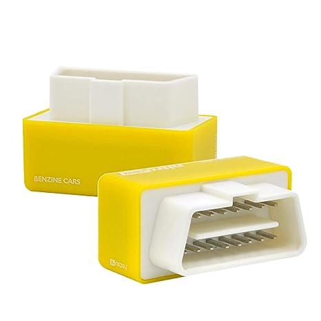NCElec Plug and Drive Nitro OBD2 Chip Tuning Box Performance ECU Remap  Power for Car Petrol Gasoline 1pc (Yellow)