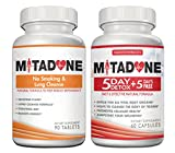 Mitadone No Smoking & Lung Cleanse 2 in 1 Anti Smoking Pills Curbs Nicotine Addiction|Cleanses Respiratory System|Helps Quit Smoking|Controls Cravings|Symptoms|Nicotine Free|5+5 Day Detox(150 Count)