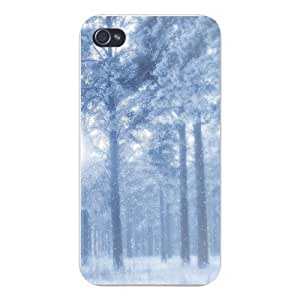 Apple Iphone Custom Case 5 5s Snap on - Winter Snow Blizzard Covered Trees in Woods Forest