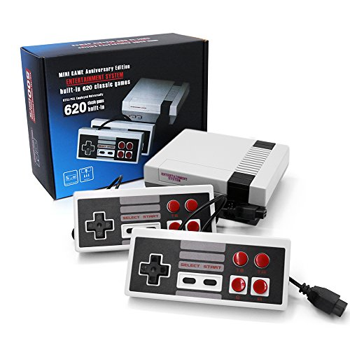 Retro Video Game Mini Classical Console Build-in 620 Games 8-bit AV Output Come with Two Controllers Gift for Kids