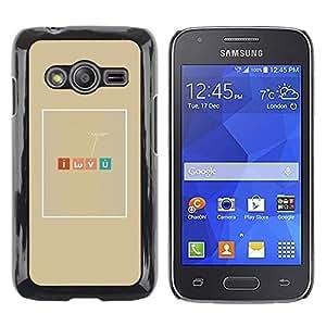 Be Good Phone Accessory // Dura Cáscara cubierta Protectora Caso Carcasa Funda de Protección para Samsung Galaxy Ace 4 G313 SM-G313F // Romantic Chemistry Nerd Table Elements