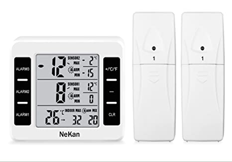 Kühlschrank Thermometer Digital : Nekan thermometer digital innen kühlschrankthermometer wasserdicht