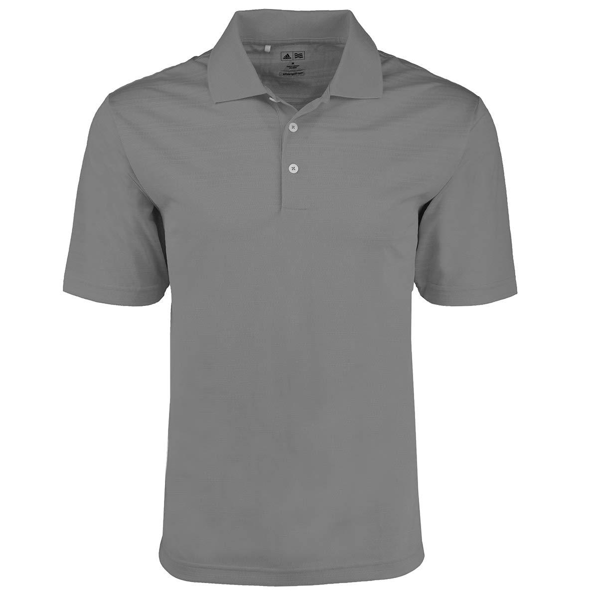 adidas Golf Mens Climalite Textured Short-Sleeve Polo (A161) -ASH -S