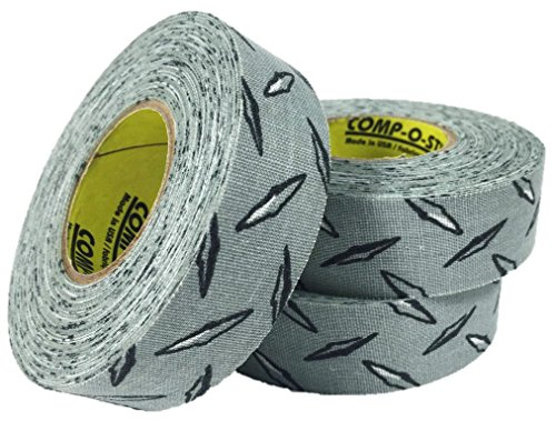 3 Rolls of Comp-O-Stik Diamond Plate Hockey Lacrosse Stick Tape ATHLETIC TAPE (3 Pack) Made In The U.S.A. 1