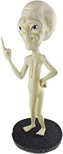 Alien sculputeAlien Sculpture Glow in The Dark, Indoor Garden Statue Alien Nude Middle Finger Resin Figure Collection