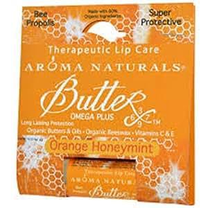 Aroma Naturals Therapeutic Lip Care, Orange Honey Mint, 0.15 Ounce