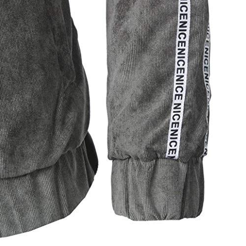 Fit Fit Risvolto Risvolto Risvolto Cappotto Giacca Outwear Casual Moda Lunghe Maniche Casual Giacche Moderna Grau Capispalla Giacca Bomber Uomo Vintage Inverno Autunno Botton Slim xaq7xzTr