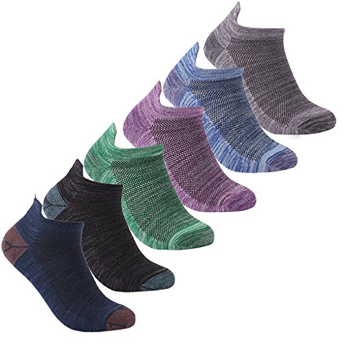 Luccalily Unisex Heel Tab Moisture Wicking Low Cut Casual Sports Socks 1,3 Pairs