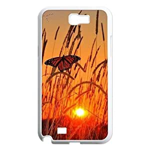 Personalized New Print Case for Samsung Galaxy Note 2 N7100, Butterfly Phone Case -R666910