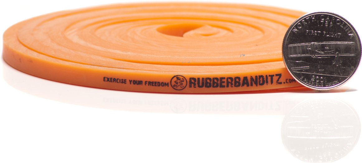 Rubberbanditz Physical Therapy Band. #1 Light/Orange 5-15 lb (2-7 kg). - 41 Continuous Loop 100% Premium Multi-Layered Latex Exersize Resistance Assistance Band For Stabilization Stretching Toning Rehab/Recovery Prehab Mobility