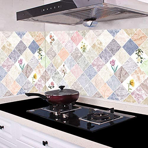 NoB 60 x 5 m ladrillo Papel Pintado Autoadhesivo de Alta Temperatura Cocina casera a Prueba de Aceite Pegatina de Humo Vieira cabinetanti-Moisture Pad Pegatinas de Cocina: Amazon.es: Hogar