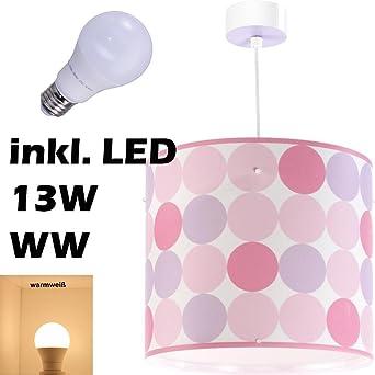 Led Lampe Kinderzimmer Decke Pendelleuchte Colors 62002s Warmweiß 1300lm Mädchen