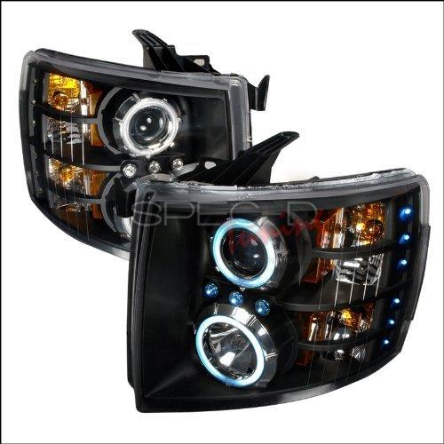 Spec-D Tuning 4LHP-SIV07JM-KS Black Projector Headlight Ccfl Halo