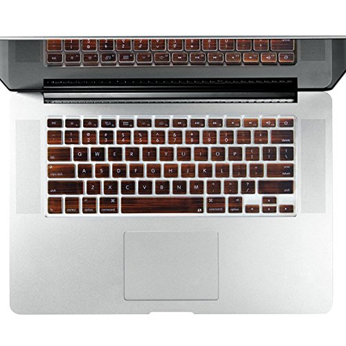 litopr-brown-wood-grain-series-thin-silicone-keyboard-cover-keyboard-skin-for-all-macbook-air-13-mac