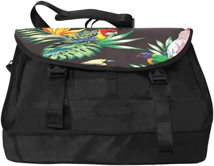 Womens Briefcase Laptop Tropical Animals Birds Parrot Macaw and Toucan On Multi-Functional Laptop Briefcase for Women Fit for 15 Inch Computer Notebook MacBook