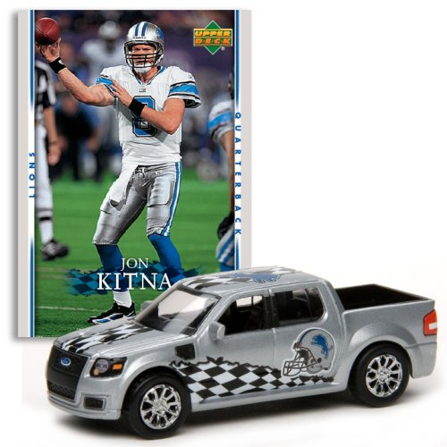 Detroit Lions - Jon Kitna (Gray Car) 2007 Upper Deck Collectibles NFL Ford SVT Adrenalin Concept with Card
