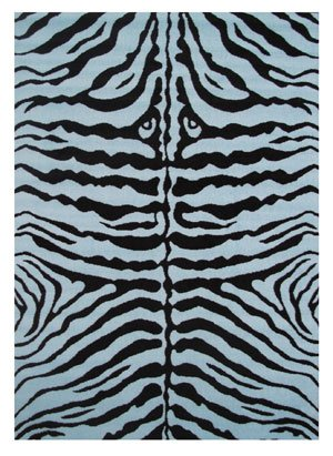 Price comparison product image Fun Rugs Zebra Skin Rug Blue 51x78""