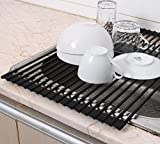 Roll-Up Dish Drying Rack - Over The Sink Dish