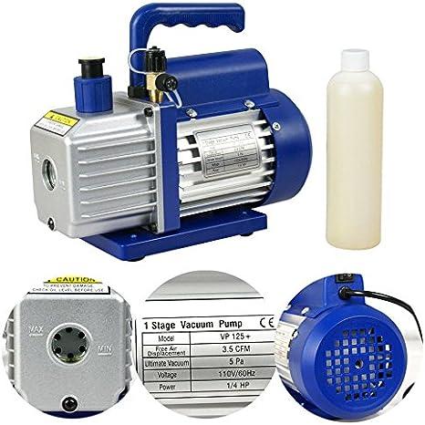 1//3HP 4 CFM Rotary Vane Deep Vacuum Pump HVAC Tool For AC R410a R134 Refrigerant