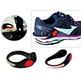 LED Safety Shoe Clip Light for Night Running Biking Jogging Walking