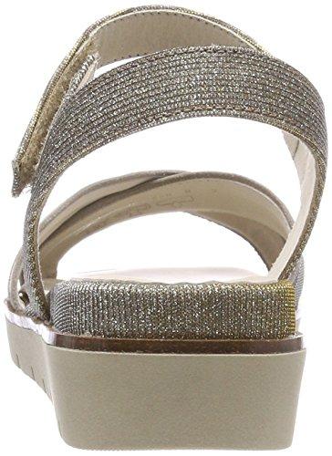 Gabor Shoes Gabor Basic, Sandales Bride Cheville Femme Multicolore (Platino/Mutaro)