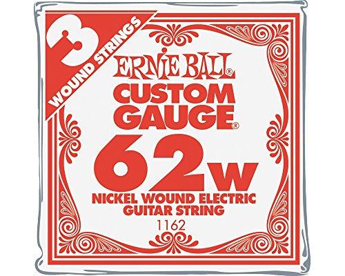 Ernie Ball Nickel Wound Single Guitar Strings 3-Pack .062 3-Pack