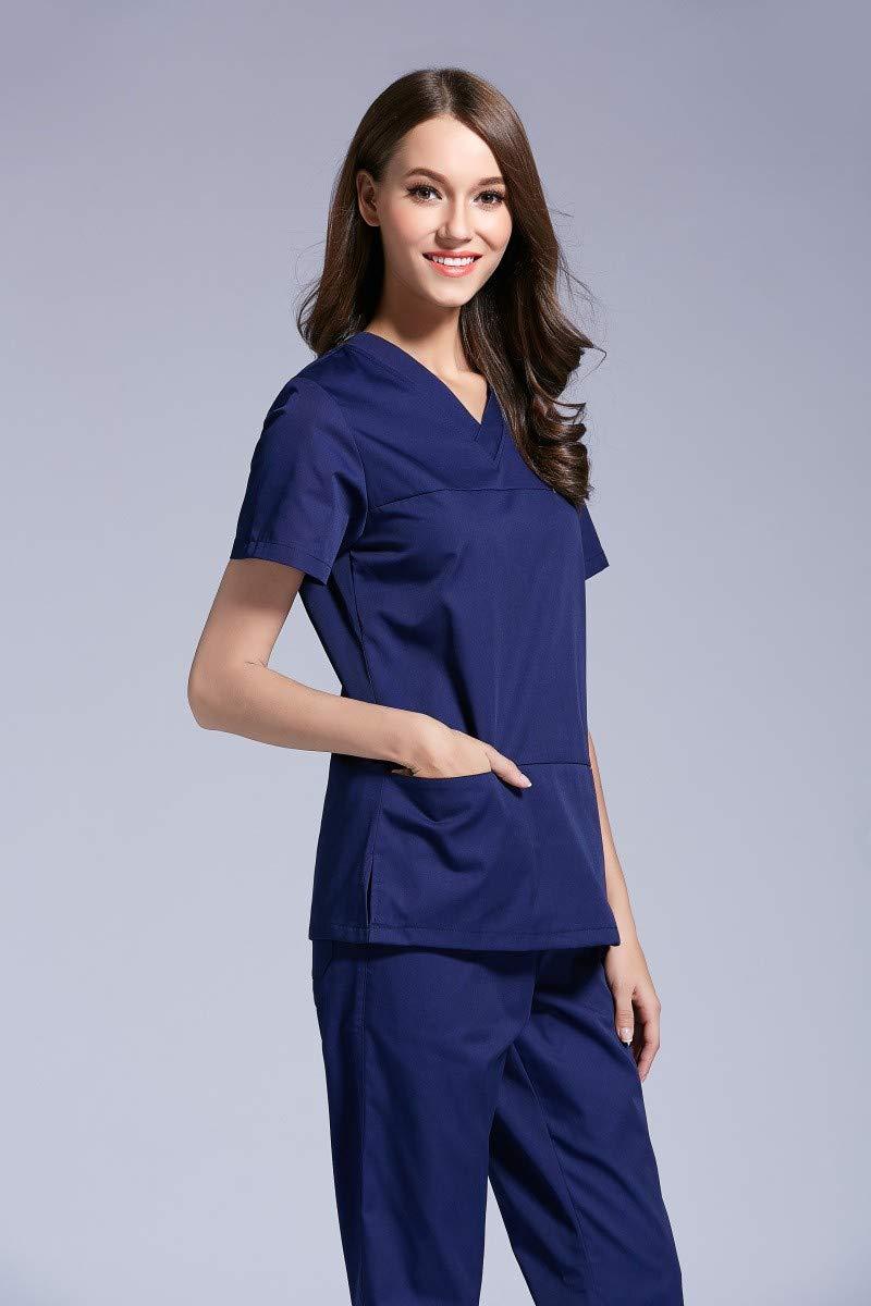OPPP Ropa médica Hospital Dental Clinic Female Nurse Wash Clothes Hospital Beauty Body Female Scrub Brush Suit: Amazon.es: Deportes y aire libre