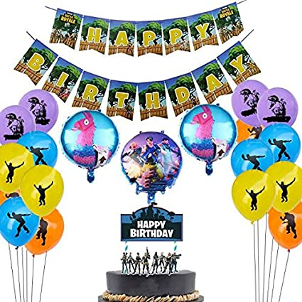 Surprising Amazon Com Gaming Party Supplies Set 16 Latex Party Balloons 3 Funny Birthday Cards Online Sheoxdamsfinfo
