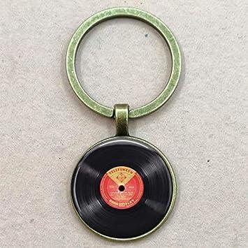 Llavero De Disco De Vinilo - DJ Gift - Bronze Record Keyring ...