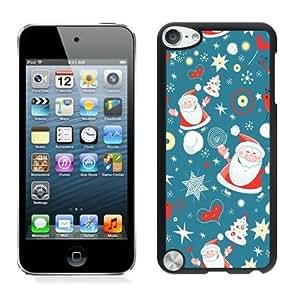 Popular Design Cartoon Santa Claus Black iPod Touch 5 Case 2