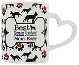 German Shepherd Gift Best German Shepherd Mom Ever Canine Dog Owner Heart Handle Gift Coffee Mug Tea Cup Heart Handle