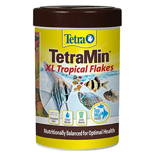 (TetraMin Large Tropical Flakes For Top/Mid Feeders, 5.65-Ounce)