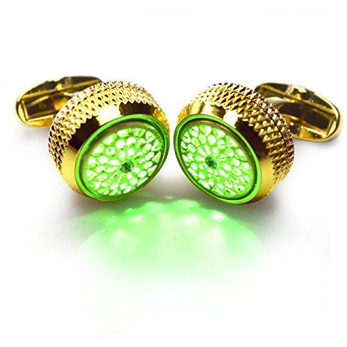 Gold Green Cufflinks - 2