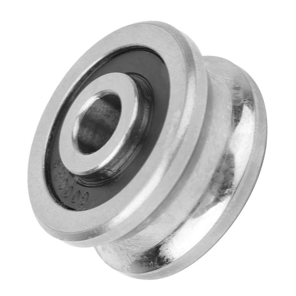 Rodamiento de Gu/ía de Ranura En U Rodamiento de Pista Esf/érica SG25 Rodamiento de Cromo de Alto Carbono Gu/ía de Rodamiento de Bolas de Acero 8 x 30 x 14 mm