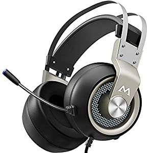 Best Epic Trends 51N%2B-mNw3yL._SS300_ Mpow Gaming Headset for PS4 PC Xbox One PS5 Controller, Noise Cancelling Over Ear Headphones with Mic, LED Light, Bass…