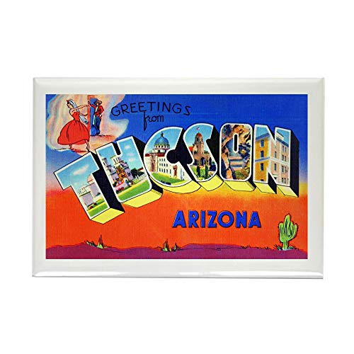 (CafePress Tucson Arizona Greetings Rectangle Magnet, 2