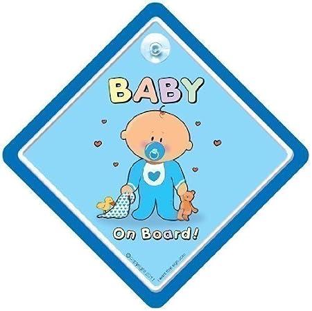 Baby cartel con ventosa para coche, azul Cutie, de peluche ...