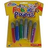 Grafix Lot de 6 feutres à tissu colorés