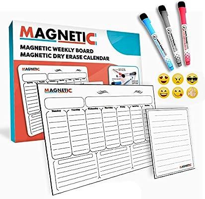 MAGNETIC - Calendario semanal de borrado en seco y semanal ...