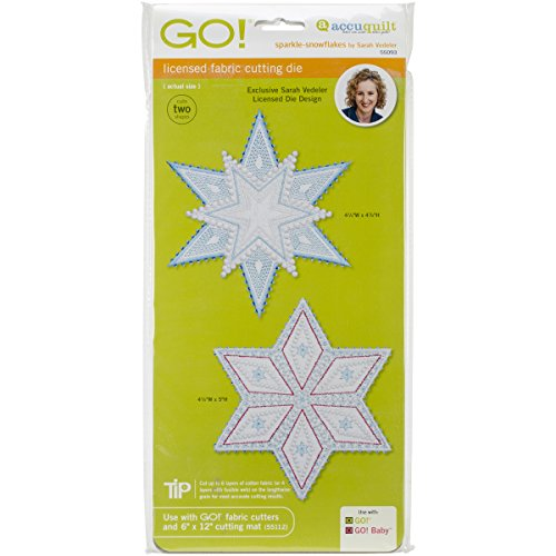 AccuQuilt GO! Fabric Cutting Dies Sparkle Snowflakes by Sarah Vedeler
