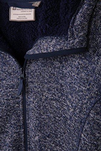 Frontali Cappuccio Felpa Per Jogging Tasche Pelliccia Mountain In Warehouse Con Morbida Rivesitmento Nevis E Regolabile Confortevole Donna Ideale Blu Passeggiate Navy qnEvE6aw