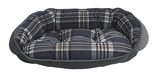 Bowsers Crescent Bed, Large, Greystone Tartan