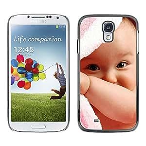 PC/Aluminum Funda Carcasa protectora para Samsung Galaxy S4 I9500 Cute Baby Girl / JUSTGO PHONE PROTECTOR