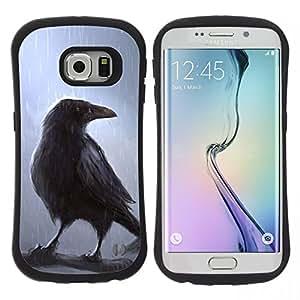 """Pulsar iFace Series Tpu silicona Carcasa Funda Case para Samsung Galaxy S6 EDGE / SM-G925(NOT FOR S6!!!) , Rain Bird Árbol Mágico corona cuento de hadas de la película"""""""