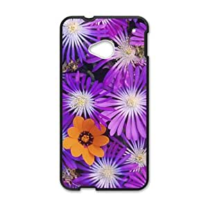 Glam Purple flowers personalized creative custom protective phone case for HTC M7