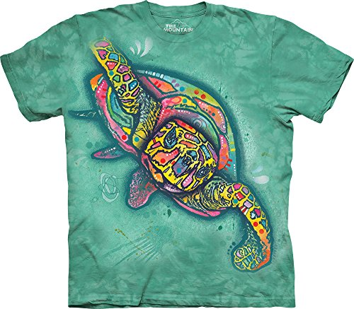 The Mountain Mens Dean Russo Turtle T Shirt  Teal  Small