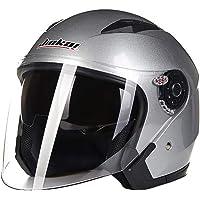 Folconauto Casco de Moto Scooter, Casco de Moto