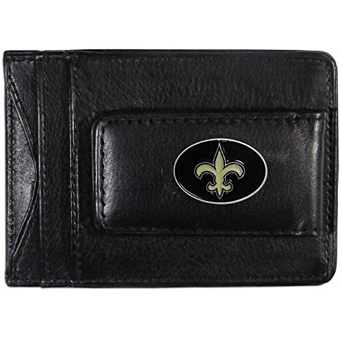 NFL New Orleans Saints Leather Money Clip Cardholder