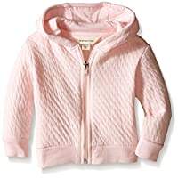 Burt's Bees Baby Baby Quilted Organic Zip Hoodie, Blossom, 6-9 Months